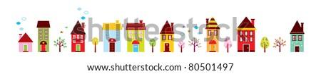 cute little house - stock vector