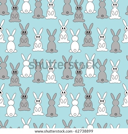 Cute little rabbits - stock vector