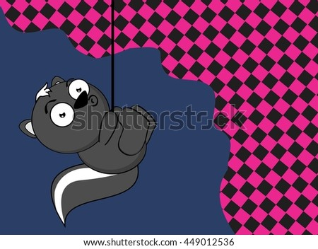 cute little skunk cartoon expression background in vector format