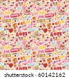 cute love element seamless pattern - stock vector