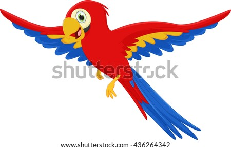 Cartoon parrot flying - photo#14