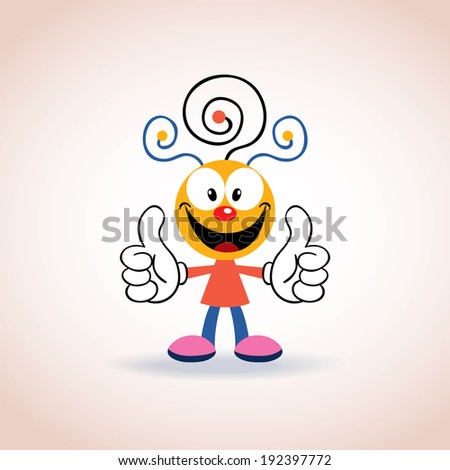 cute mascot cartoon character - stock vector