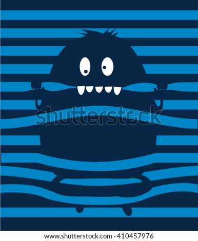 cute monster character design - stock vector