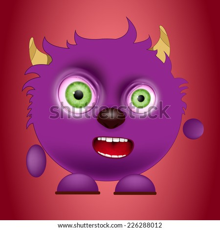 cute  monster vector - stock vector