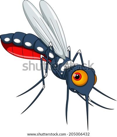 Cute mosquito cartoon - stock vector