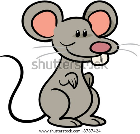 cute mouse vector illustration - stock vector