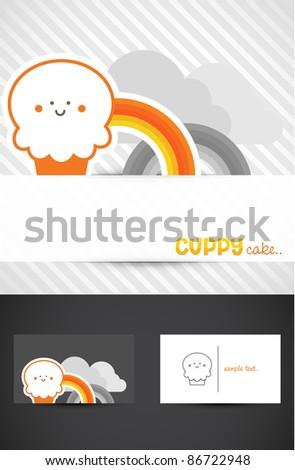 Cute Muffin Icon, Vector EPS10. - stock vector