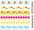cute nature banner set - stock vector
