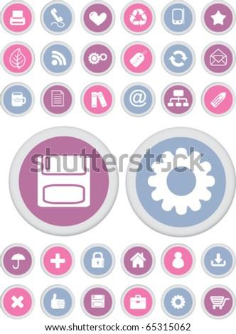 cute office buttons. vector - stock vector