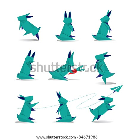 Cute Origami Rabbit Paper Fold