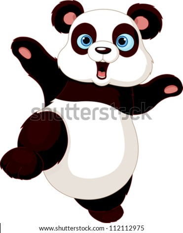 Cute Panda Doing Martial Art