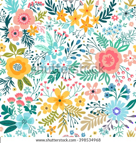 Cute pattern small abstract flower beautiful stock vector royalty cute pattern in small abstract flower beautiful colorful flowers white background spring floral mightylinksfo