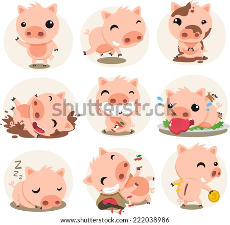 how to draw a cute pig