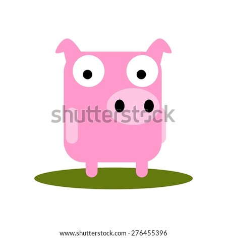 Pig In Mud Stock Vectors & Vector Clip Art | Shutterstock Cute Cartoon Pigs With Big Eyes
