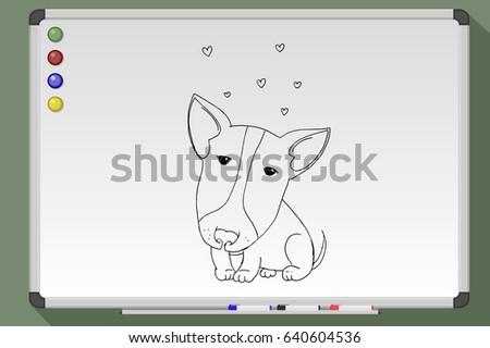 Hand drawn cute cat stock vector 354468596 shutterstock for Cute whiteboard drawings