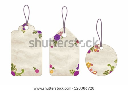 cute price tag set grunge paper stock vector royalty free