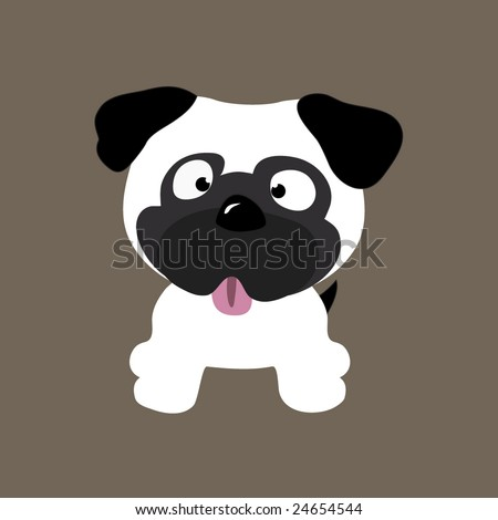 Cute Pug Vector (other dogs in portfolio) - stock vector