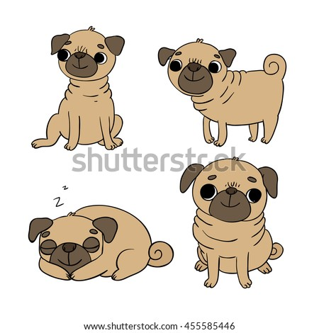 how to draw a pet dog pug