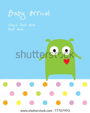 cute puppy monster baby arrival