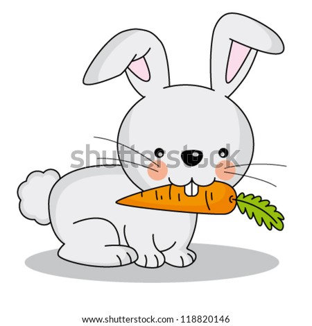 Rabbit Eating Carrot Stock Images Royalty Free Images