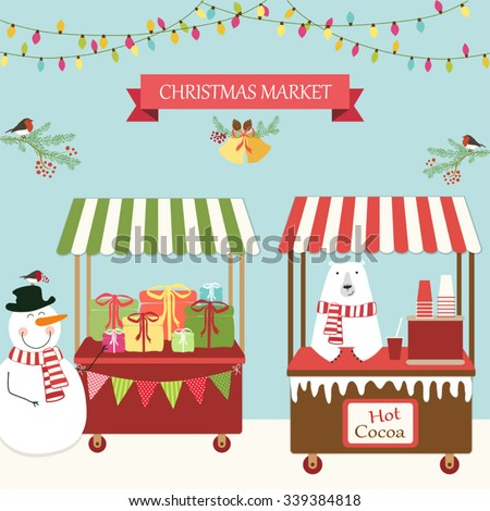 Image result for xmas market clipart