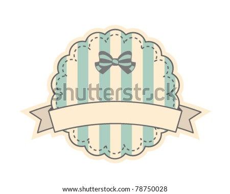 Cute retro label - stock vector