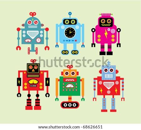 Cute Robot Doodles Cute Robot Doodle