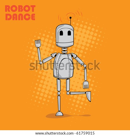 cute robot vector - stock vector