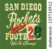 Cute rockets football team - print for child wear in custom colors - stock photo