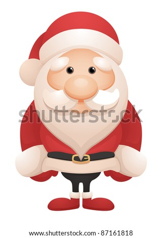 Cute Santa - stock vector