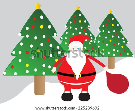 Cute santa claus christmas card