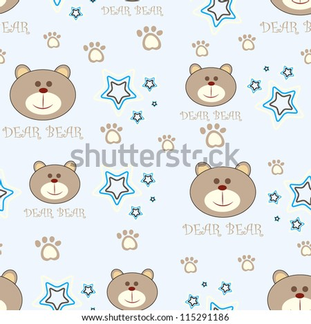 Cute seamless baby pattern/Vector illustration