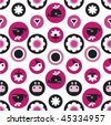 Cute seamless background pattern for girls in vector - stock vector