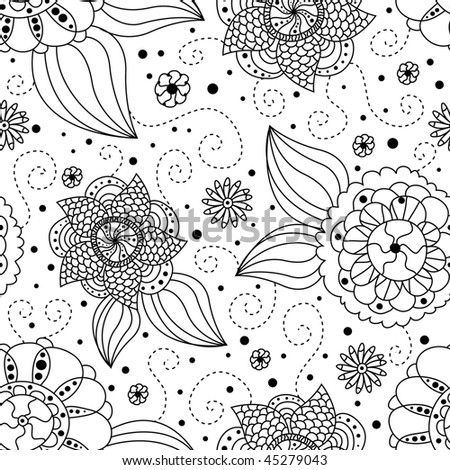 cute seamless floral pattern for your design - stock vector
