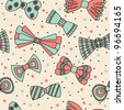 Cute seamless pattern with bows. Vector illustration - stock photo