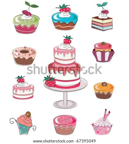 Cute seamless set of cup cakes.