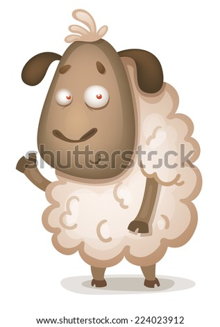 Cute Sheep - stock vector