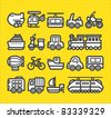 cute simple transportation icon - stock vector