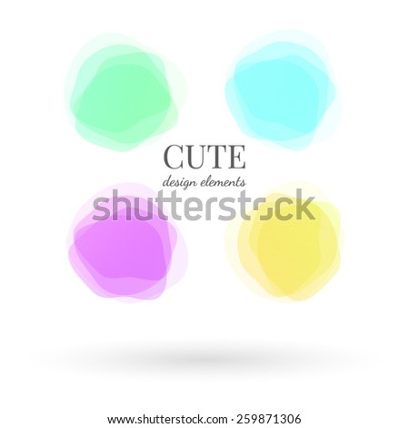 Cute spots  - stock vector