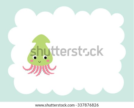 cute squid card