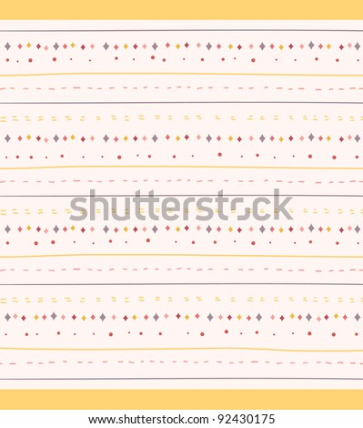 Cute Stripes Seamless Background - stock vector