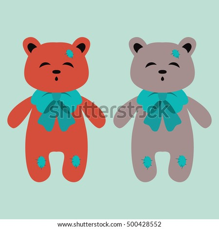 Cute Sweet Pretty And Teddy Bears In The Most Delicate Colors For Your Postcards