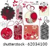 Cute tags collection - stock vector