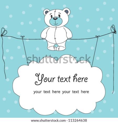Cute teddy bear blue background stock vector hd royalty free cute teddy bear with blue background thecheapjerseys Choice Image