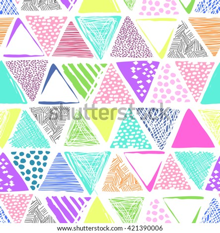 cute triangle print ~ seamless background - stock vector