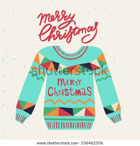 Cute Ugly Christmas Sweater Sweater Party Vector 536462524 – Tacky Christmas Sweater Party Invitations