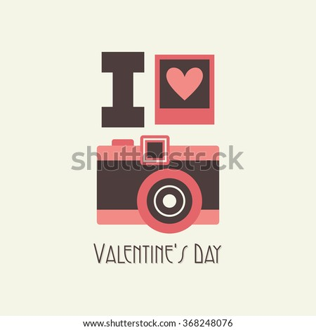 cute valentines day card. vector illustration - stock vector