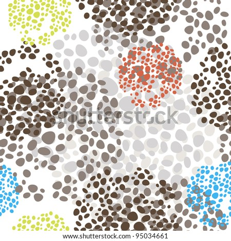 cute vector abstract seamless pattern - stock vector