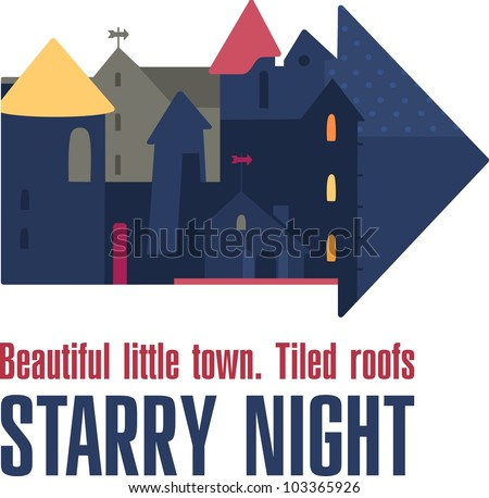 Cute vector illustration of a city. City houses. Vector illustration for you design - stock vector