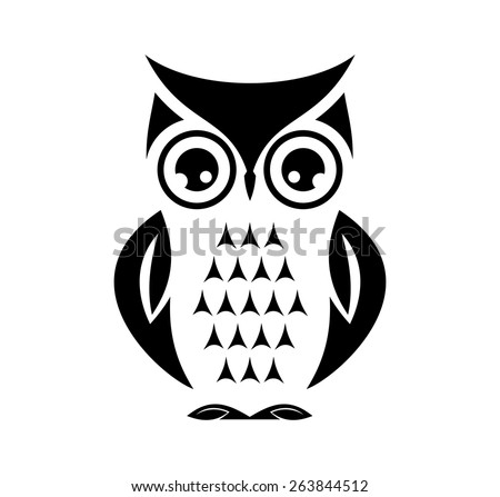 Cute vector owl - stock vector